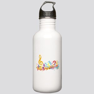 Colorful musical notes Stainless Water Bottle 1.0L