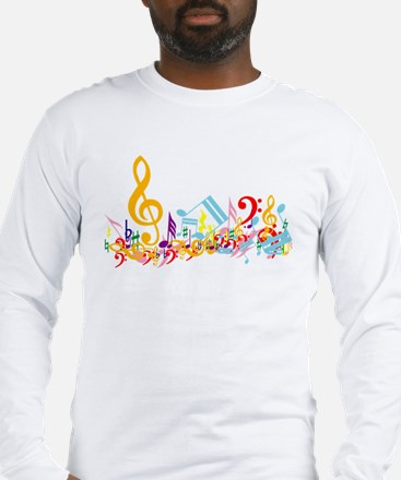 Colorful musical notes Long Sleeve T-Shirt