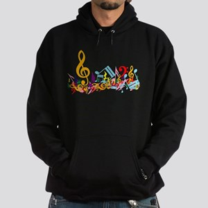 Colorful musical notes Hoodie (dark)