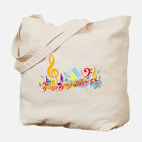 Colorful musical notes Tote Bag