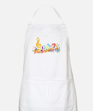 Colorful musical notes Apron