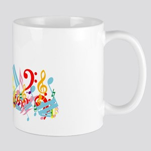 Colorful musical notes Mug