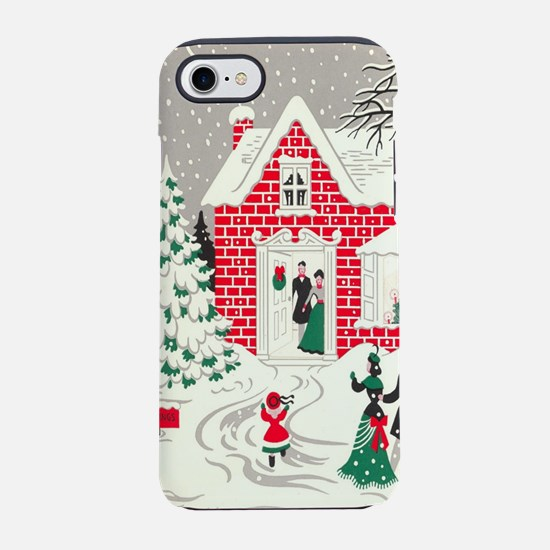 winter wonderland primitive Ch iPhone 7 Tough Case