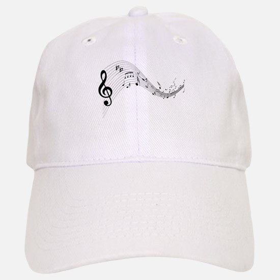 Mixed Musical Notes (black) Baseball Baseball Cap