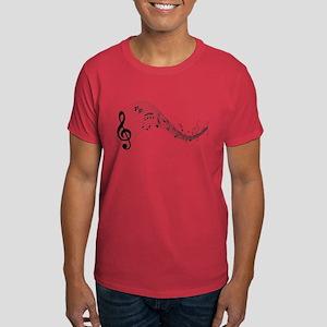 Mixed Musical Notes (black) Dark T-Shirt