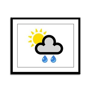 Rain Showers Symbol Framed Panel Print