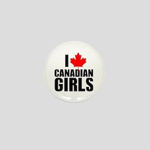 I Heart Canadian Girls Mini Button