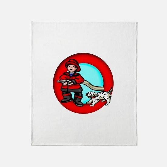 Boy Fireman Throw Blanket