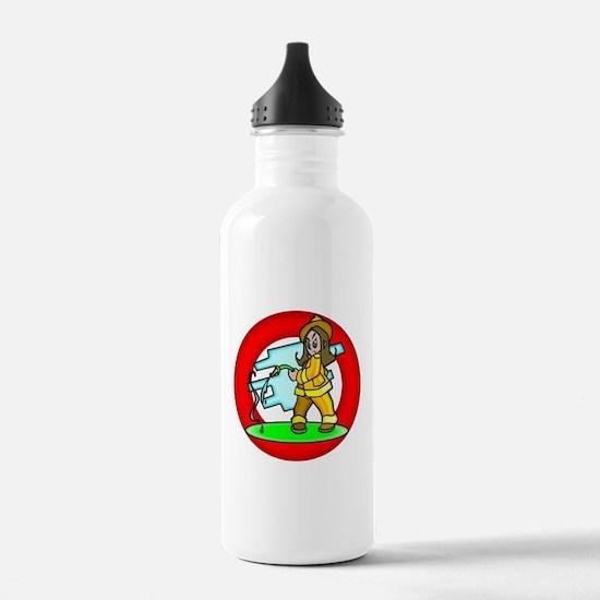 Girl Firemen Water Bottle
