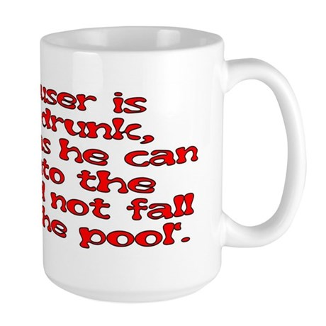 Red Scouser Never Drunk Large Mug