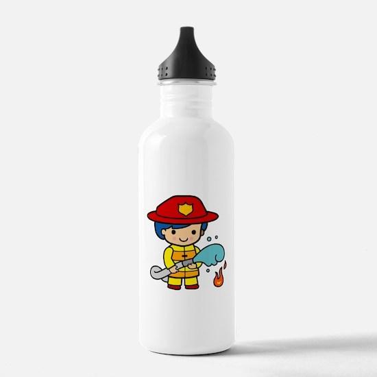 Girl Firefighter Water Bottle