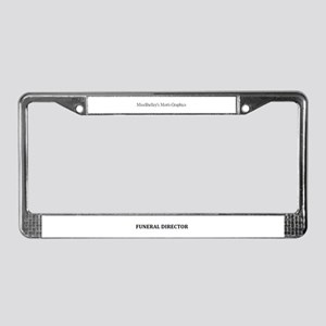 Funeral Home Humor License Plate Frame