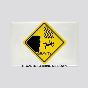 Sheldon's Gravity Joke Rectangle Magnet