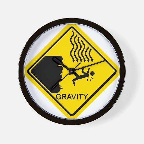 Sheldon's Gravity Joke Wall Clock
