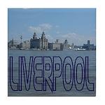 Scenic Liverpool (Blue) Tile Coaster