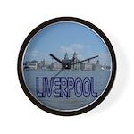 Scenic Liverpool (Blue) Wall Clock