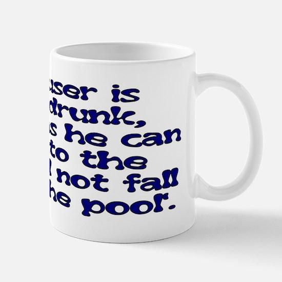 Scouser Never Drunk (Blue) Mug