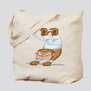 Monkey Gymnist Tote Bag