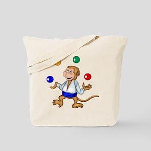 Juggling Monkey Tote Bag
