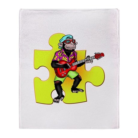 Rock and Roll Monkey Throw Blanket