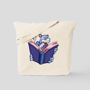 Book Reading Monkey Tote Bag