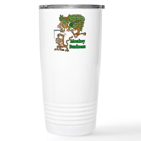 Monkey Business Stainless Steel Travel Mug