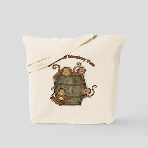 Barrel Of Monkeys Tote Bag