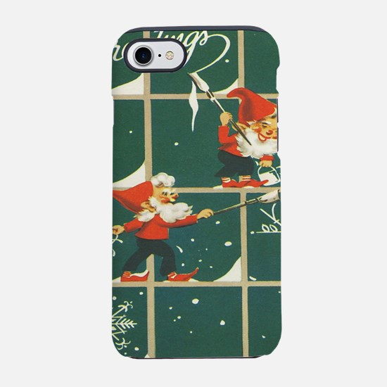 Christmas snowflakes retro elv iPhone 7 Tough Case