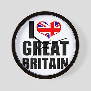 I Heart Great Britain Wall Clock