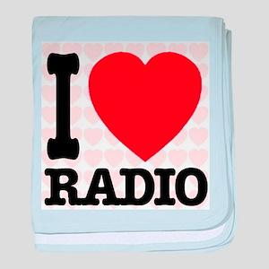 I Love Radio baby blanket