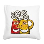beer_RGB Square Canvas Pillow