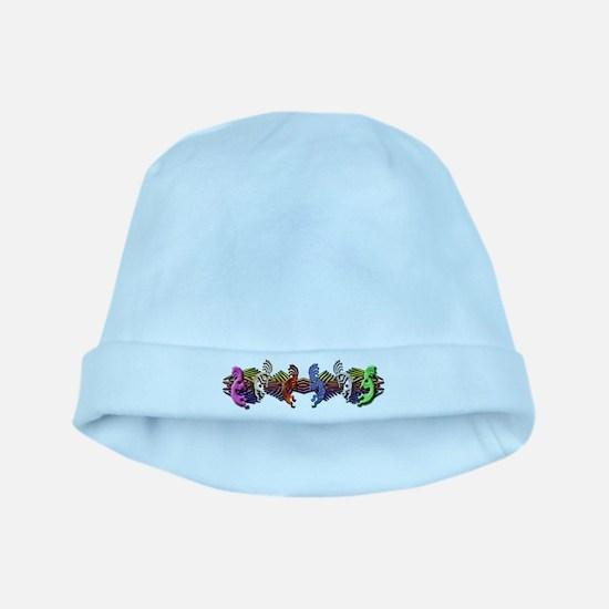 Colorful Kokopelli Banner baby hat