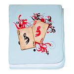 Kokopelli Gambler baby blanket