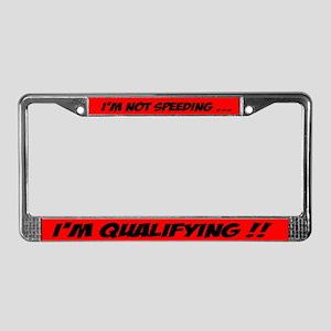 speeding license plate frame