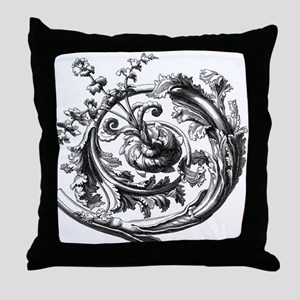 Gothic Skull with crown Throw Pillow