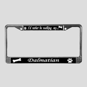 Dalmatian License Plate Frame