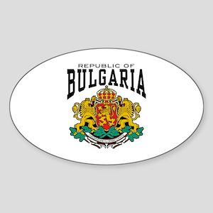 Republic Of Bulgaria Sticker (Oval)