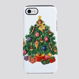 vintage retro Christmas Tree iPhone 7 Tough Case