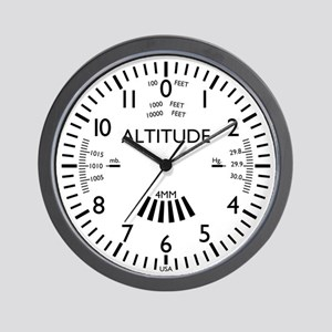 Aviation Altimeter Wall Clock (white)
