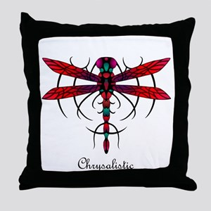 Astral Dragonfly Throw Pillow