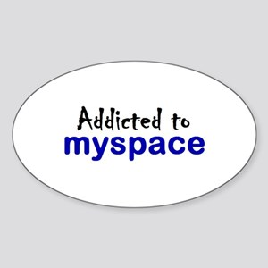 Myspace Oval Sticker