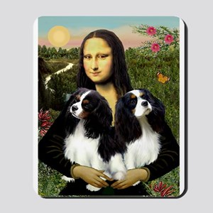 Mona & her 2 Tri Color CKC Mousepad