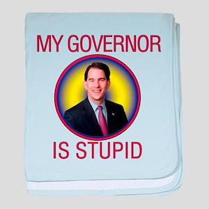 Stupid Governor baby blanket