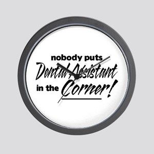 Dental Asst Nobody Corner Wall Clock
