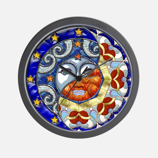 Harvest Moons Sun and Moon Yin Yang Wall Clock