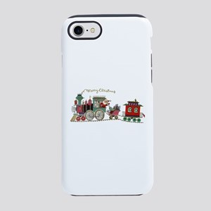 Christmas Santa Toy Train iPhone 7 Tough Case