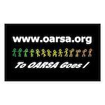 oarsa.org rectangular sticker
