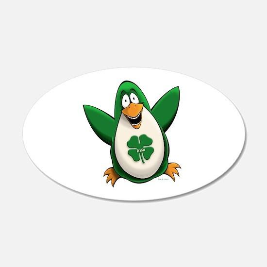 Irish Penguin 22x14 Oval Wall Peel
