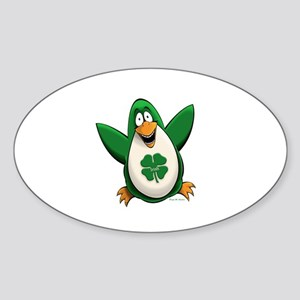 Irish Penguin Sticker (Oval)