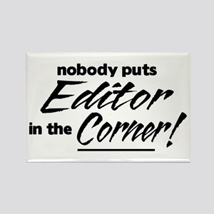 Editor Nobody Corner Rectangle Magnet